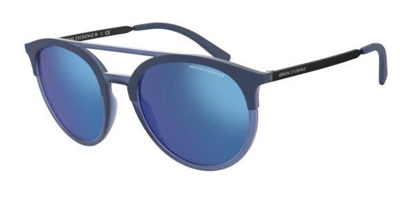 Очки Armani Exchange 0AX4092S 808955 MATTE TR BLUE/MATTE BLUE солнцезащитные купить