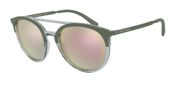 Очки Armani Exchange 0AX4092S 81964Z TRANSP GREY/MT MILITARY GREEN солнцезащитные купить