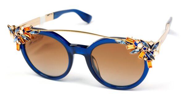 Очки JIMMY CHOO VIVY/S 1UN BROWN SF BLUE GOLD солнцезащитные купить