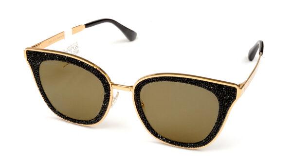Очки JIMMY CHOO LIZZY/S 2M2 GOLD SP BLK GOLD солнцезащитные купить