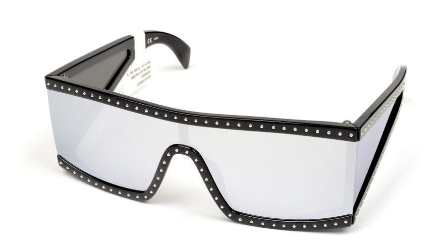 Очки MOSCHINO MOS004/S BSC EXTRA WHITE ML BLCK SILV солнцезащитные купить