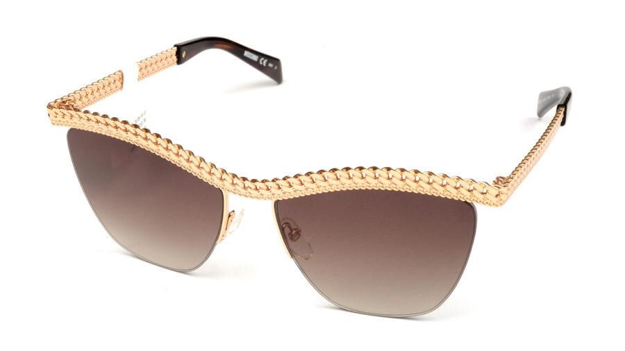 Очки MOSCHINO MOS010/S 06J BROWN SF GOLD HAVN солнцезащитные купить