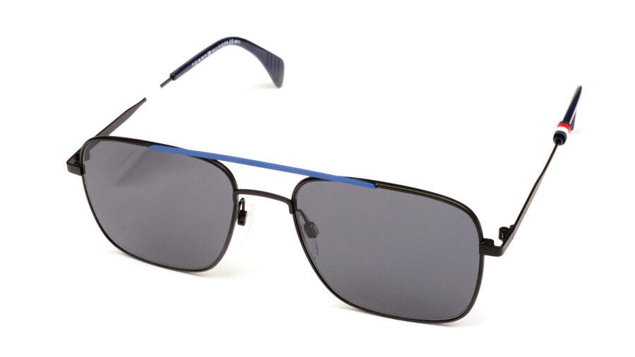 Очки TOMMY HILFIGER TH 1537/S EFC GREY BKBLUFLW солнцезащитные купить