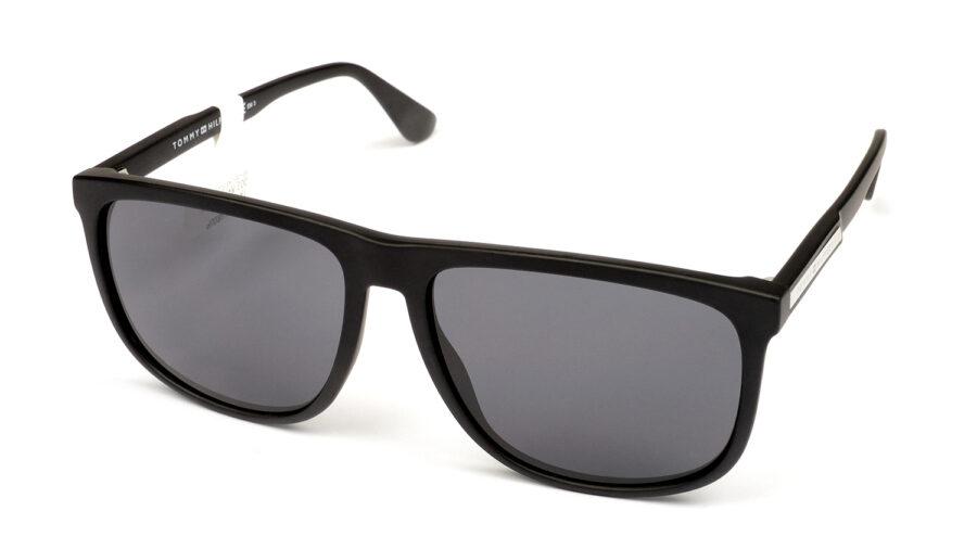Очки TOMMY HILFIGER TH 1546/S 003 GREY MTT BLACK солнцезащитные купить