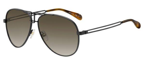 Очки Givechy GV 7110/S 003 MTT BLACK BROWN SF солнцезащитные купить