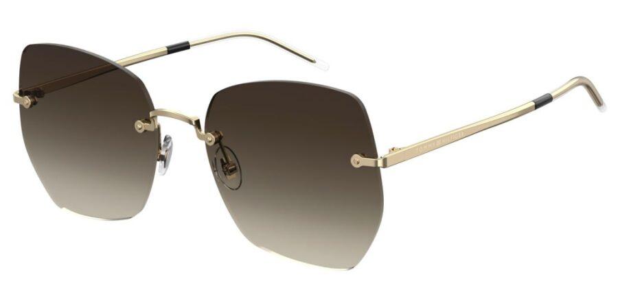 Очки TOMMY HILFIGER TH 1667/S GOLD BRWN солнцезащитные купить