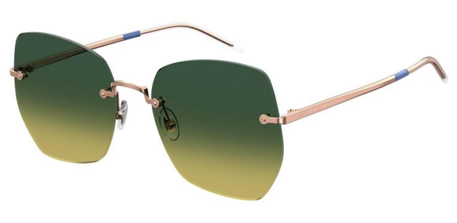 Очки TOMMY HILFIGER TH 1667/S GOLD BLUE солнцезащитные купить