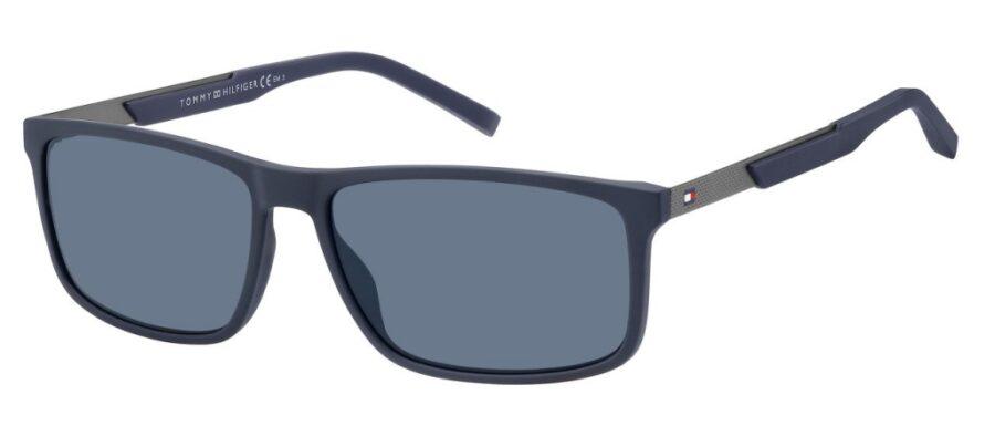 Очки TOMMY HILFIGER TH 1675/S MTBL BLUE солнцезащитные купить