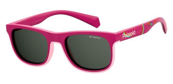 Детские очки POLAROID PLD 8035/S FUCHSIA солнцезащитные купить